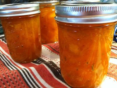 Apricot Ginger Rosemary Jam