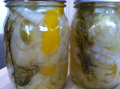Canning Winter Veggies – 1st – Fennel with lemon peel