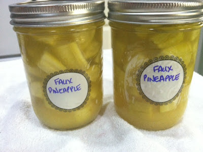 Faux Pineapple – Yes it's made with Zucchini!
