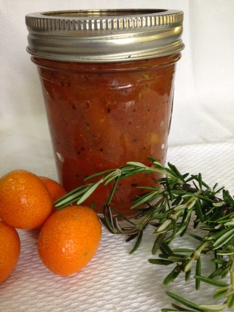 Kumquat Marmalade with Rosemary & Black Pepper