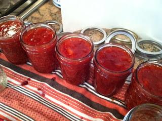 Apricot Ginger Raspberry Jam