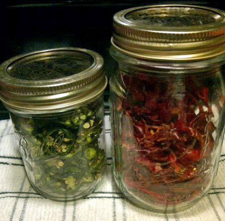Stephanie's Dried Jalapenos and Red Chilis