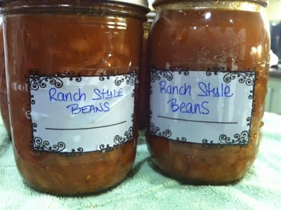 Canning Ranch Style Beans