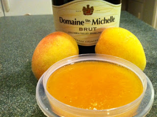 Mom loves it with Strawberries. How about Peaches? Champagne anyone?