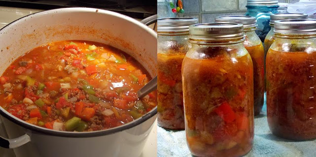 A soup that reminds us of comfort food… Deconstructed Stuff Pepper soup