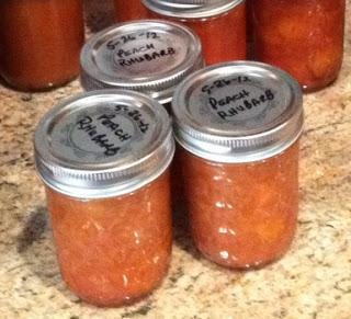 Peach Rhubarb Jam – Yum!