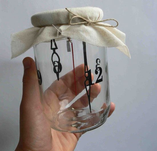 Clock in a Jar courtesy