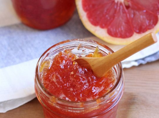 Fig Grapefruit Jam with Cowboy Candy Syrup