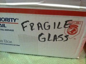 "Mark ""Fragile"" on box"