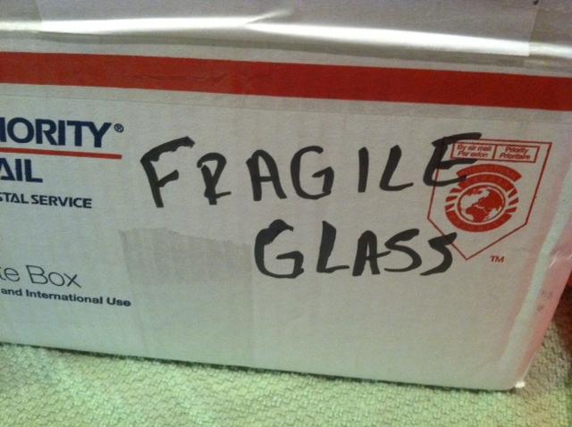 """Mark """"Fragile"""" on box"""
