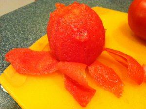Tomato easily peels
