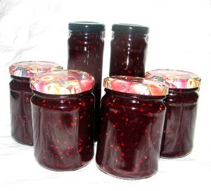 Canning Raspberry Basil Chambord