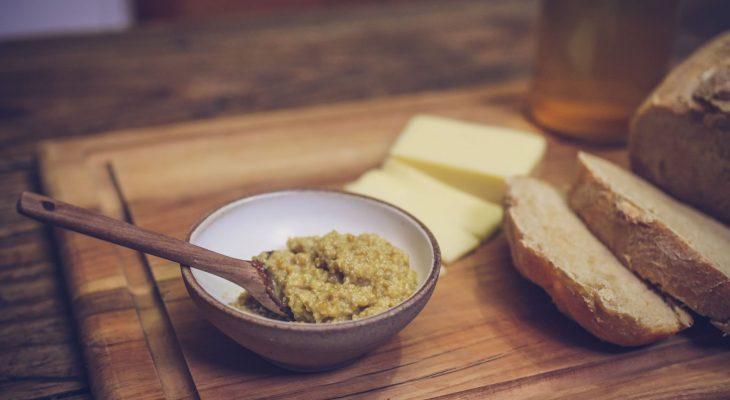 Angela's Hubby's Homemade Homebrew Mustard