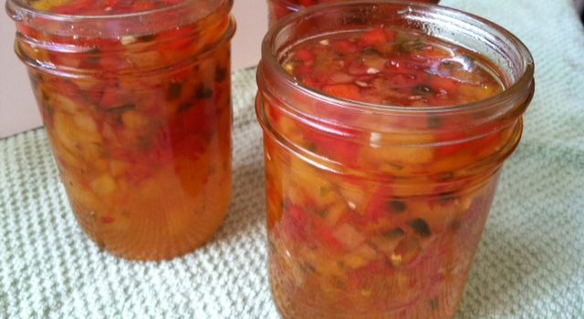 Apricot Red Pepper Relish