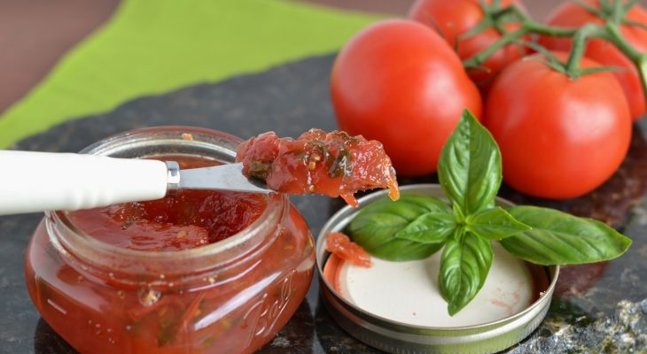 Balsamic Cherry Tomato Caramelized Onion Conserve