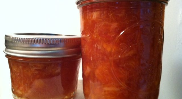 Blood Orange Rum Vanilla Marmalade