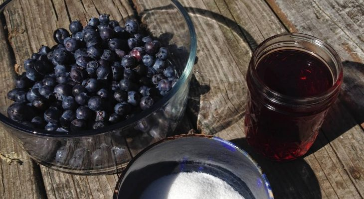 Blueberry Cayenne Wine Jam