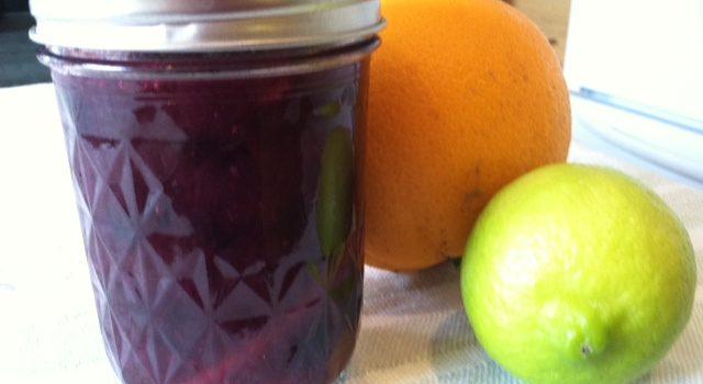 Blueberry Ginger Orange Lime Marmalade
