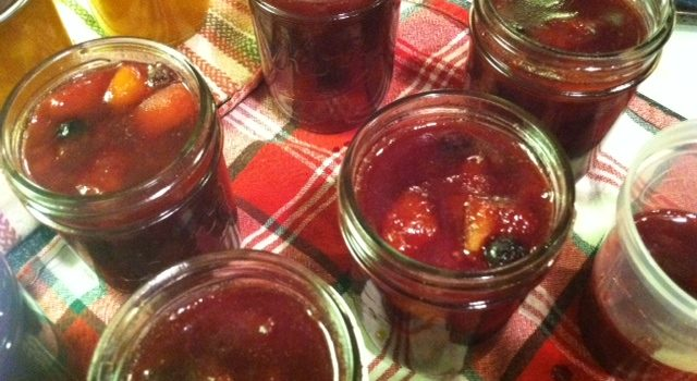 Blueberry Peach Preserve