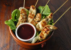 Chicken Satay with Cranberry dip