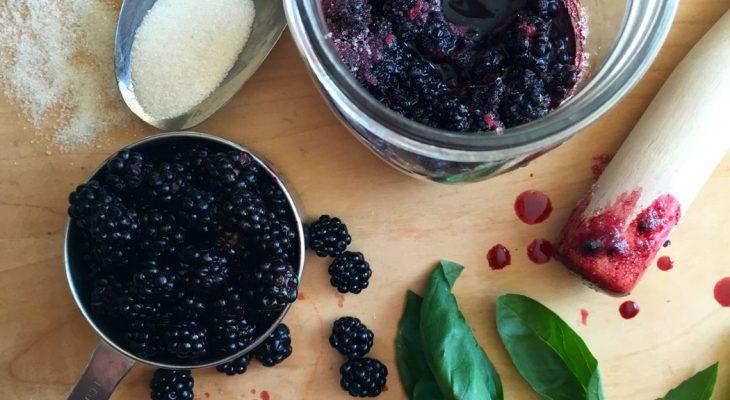 Expensive Blackberry Basil Lemoncello