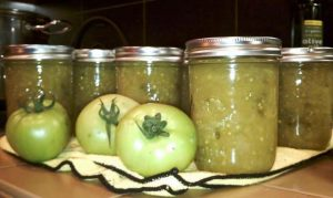 Green Tomato and Jalapeno Relish