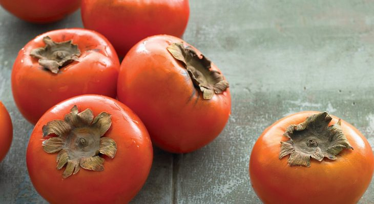Honey-Spiced Fuyu Persimmons