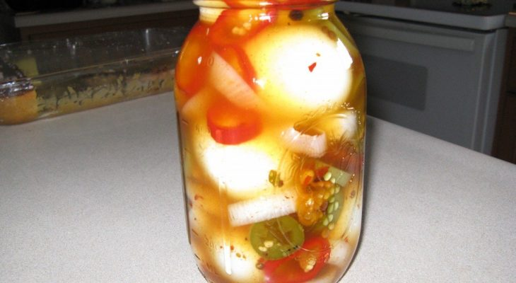 Jalapeno Pickled Eggs