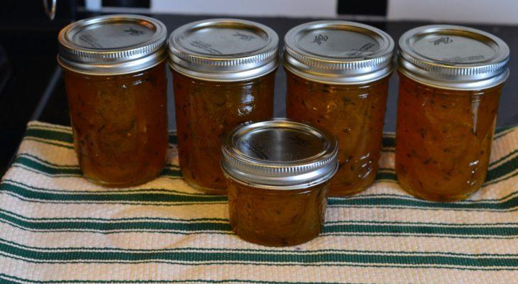 Lemon Ginger Zucchini Marmalade