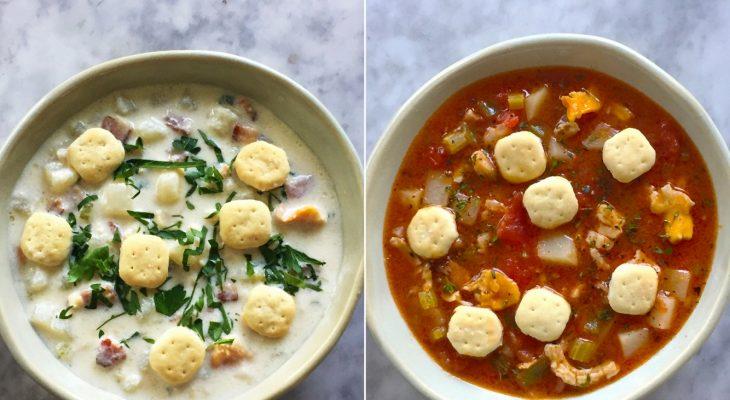 New England and Manhattan recipes