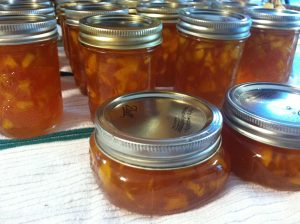 Peach Conserve with Almonds