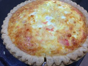 Finished Quiche out of the oven