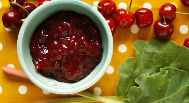 Rhubarb Cherry Vanilla Jam