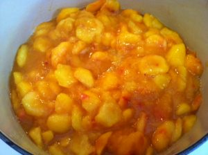 Still in the pot – classic Apricot Preserve