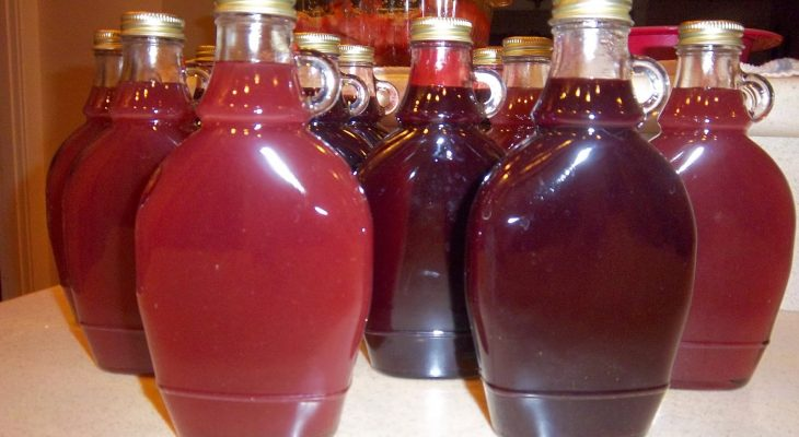 Strawberry and Blackberry Pancake syrup