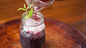 Raspberry Basil Chambord Jam