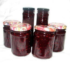 Canning Raspberry Basil Chambord Jam