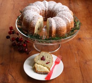 Cherry and nut cake