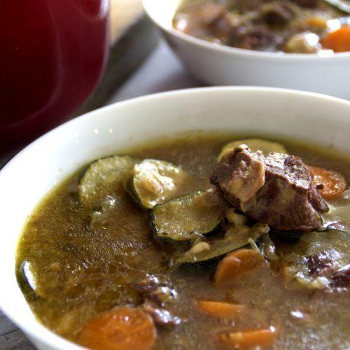 Shin bone soup