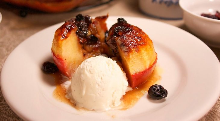 Baked apples a' la fruit
