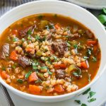 Beef Barley winter soup