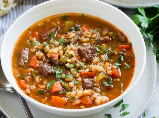 Beef & Barley winter soup