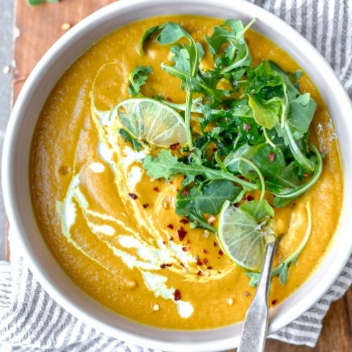 Curried potato and cauliflower soup