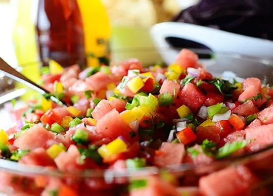 Melon mouth watering salsa