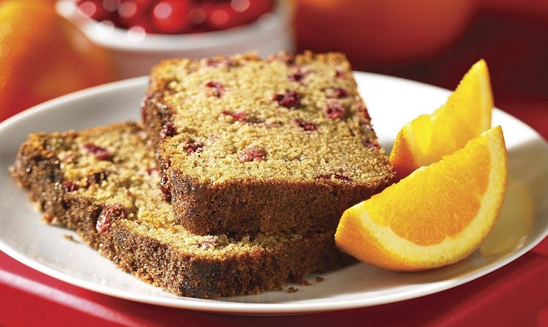 Orange cranberry tea bread