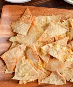 Salsa with pita chips