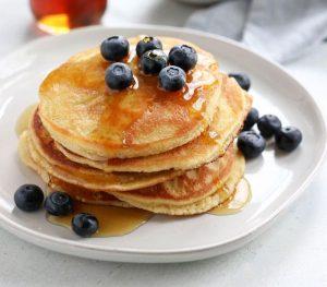 Sugar sassy almond pancakes
