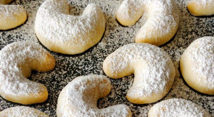 Almond Crescents, Butterscotch Icing