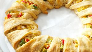 Almond, Curry and Monterey Jack Cheese Chicken Rolls