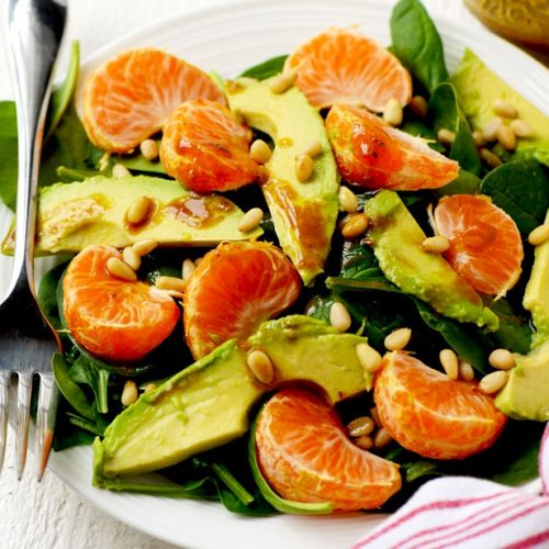 Avocado mandararin salad
